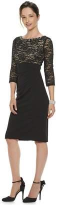 Jessica Howard Petite Beaded Boatneck Empire Waist Dress