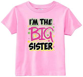 Lil Shirts Little Girls Big Sister Youth And Toddler Graphics Tee (Youth S, )