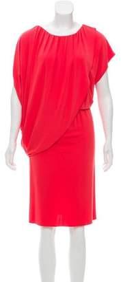 Josie Natori Capelet Midi Dress