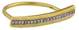Meira T 14K Diamond Long Bar Ring
