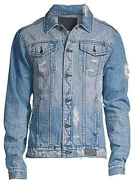PRPS Men's Destroyed Light Wash Denim Jacket