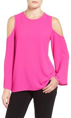 Women's Vince Camuto Cold Shoulder Blouse $79 thestylecure.com