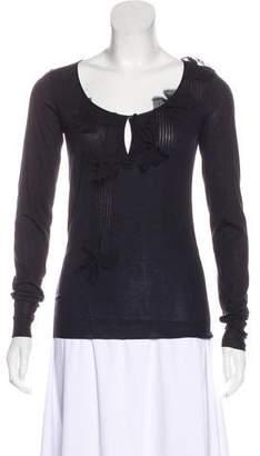 Christian Dior Long Sleeve Silk Top