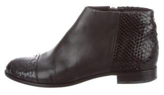 Alexandre Birman Leather Ankle Boots Black Leather Ankle Boots