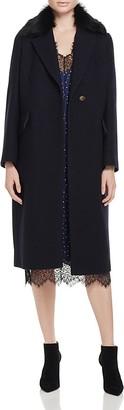 Whistles Bonnie Faux Fur Collar Coat - 100% Bloomingdale's Exclusive $750 thestylecure.com