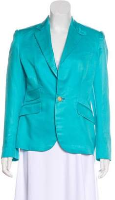 Ralph Lauren Structured Silk Blazer