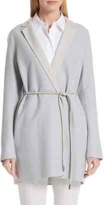 Lafayette 148 New York Cranford Wool & Silk Reversible Jacket