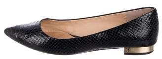 Tory Burch Snakeskin Pointed-Toe Flats