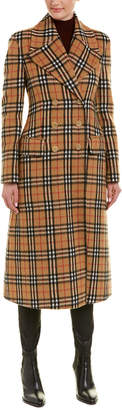 Burberry Vintage Check Alpaca & Wool-Blend Tailored Coat