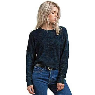 Volcom Junior's The Favorite Cropped Crew Neck Sweater