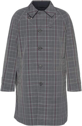 Lanvin Reversible Checked Cotton-Blend Trench Coat
