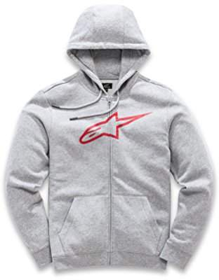 Alpinestars Men's Full Zip Hooded Sweatshirt Classic Fit 280 GSM Logo Fleece