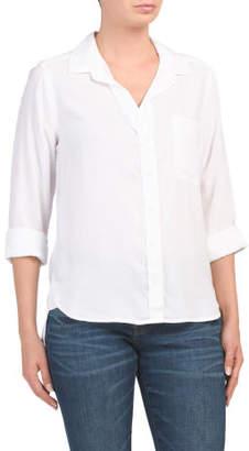 Tencel Shirttail Button Down Shirt