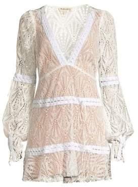 For Love & Lemons Bright Lights Lace Mini Dress