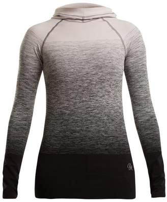 Pepper & Mayne - Hooded Ombré Compression Performance Top - Womens - White