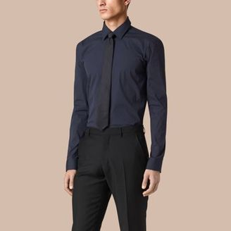 Burberry Modern Fit Stretch Cotton Shirt $385 thestylecure.com