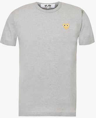 Comme des Garcons Logo-embroidery cotton-jersey t-shirt