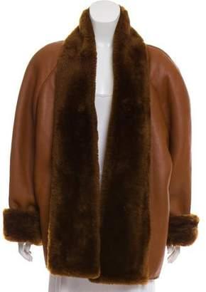 Max Mara Oversize Shearling Coat