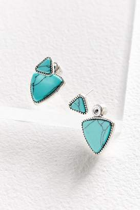 Urban Outfitters Triangle Stone Front/Back Earring