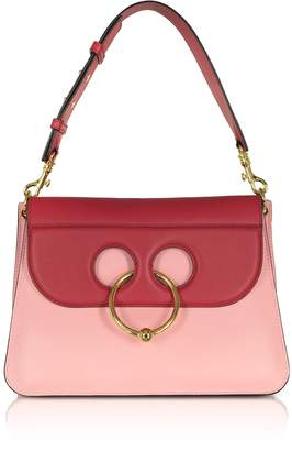 J.W.Anderson Crimson Red and Pink Bubblegum Leather Medium Pierce Bag