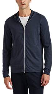 Theory Men's Cosmos Cotton Zip-Front Hoodie - Charcoal
