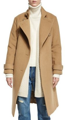 Vince Wool-Blend Double-Breasted Trenchcoat, Camel $695 thestylecure.com