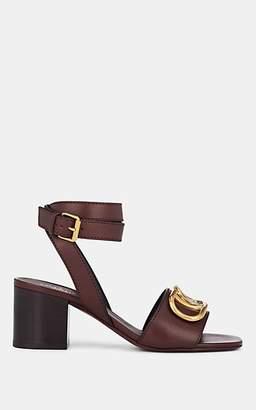 Valentino Garavani Women's Rubin Embellished Leather Sandals - Wine