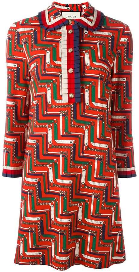 Gucci bridle strap printed dress