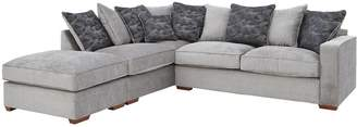 Very Aria Fabric Left-Hand Scatterback Corner Chaise Sofa with Footstool
