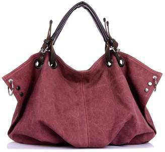 Ethan Womens Casual Oversize Canvas Tote Handbag