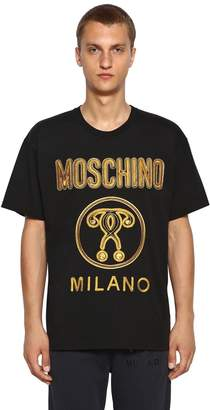 Moschino Oversize Embroidered Cotton T-shirt