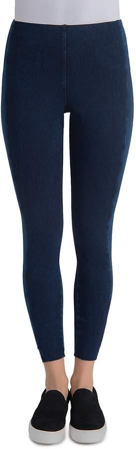 Denim Step-Hem Ankle Leggings