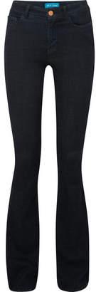 MiH Jeans Marrakesh Mid-rise Flared Jeans - Dark denim