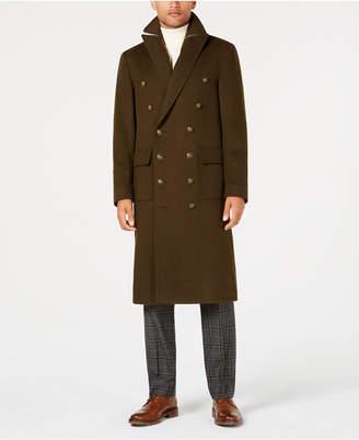 Tallia Men's Slim-Fit Solid Military Overcoat