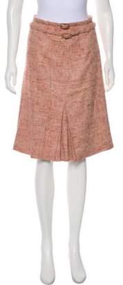 Valentino Tweed Knee-Length Skirt Pink Tweed Knee-Length Skirt