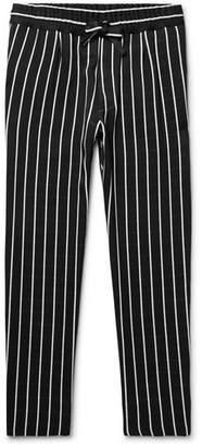 Haider Ackermann Pinstriped Satin Drawstring Trousers