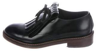 Marni Leather Round-Toe Oxfords