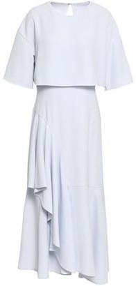 ADEAM Layered Draped Crepe Midi Dress