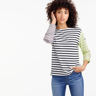 Saint James® for J.Crew colorblock stripe T-shirt $128 thestylecure.com