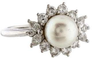 Tiffany & Co. Diamond & Pearl Ring