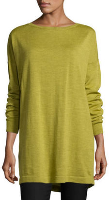 Eileen Fisher Merino Jersey Long Tunic $238 thestylecure.com