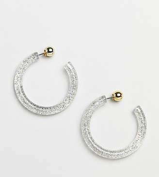 Liars & Lovers trapped glitter resin hoop earrings