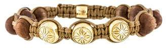 Shamballa 18K Wood & Diamond Bracelet