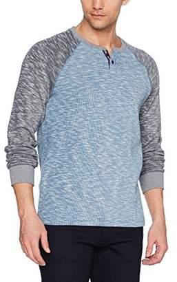 Lucky Brand Men's Long Sleeve Colorblock French Rib Button Notch Shirt