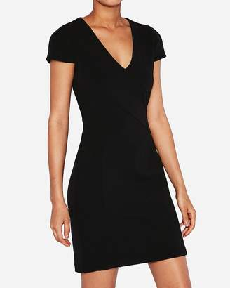 Express Petite Tulip Sleeve Sheath Dress