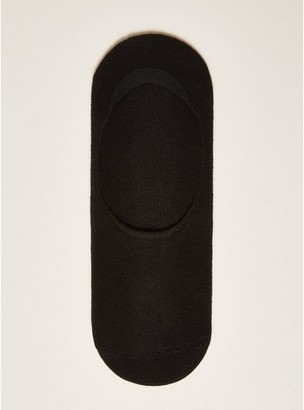 Topman Mens Black No Show Socks with Gel Pads