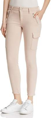 Mavi Jeans Juliette Skinny Cargo Jeans in Light Peach Twill