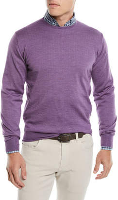 Peter Millar Men's Wool/Silk Pullover Crewneck Sweater