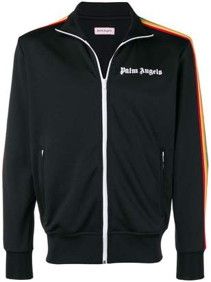 Palm Angels arm-stripe zipped jacket