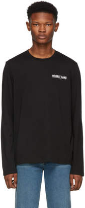 Helmut Lang Black Logo Long Sleeve T-Shirt